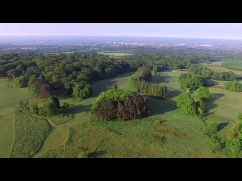 Haigh Hall in Wigan drone footage