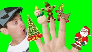 Finger Family Song - Christmas with Matt | Nursery Rhymes, Children's Songs | Learn English Kids