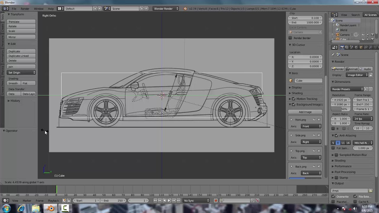 How to set up blueprints in blender 274 for modelling youtube how to set up blueprints in blender 274 for modelling malvernweather Image collections