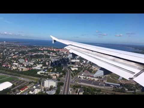 Lufthansa Airbus A321 landing in Tallinn