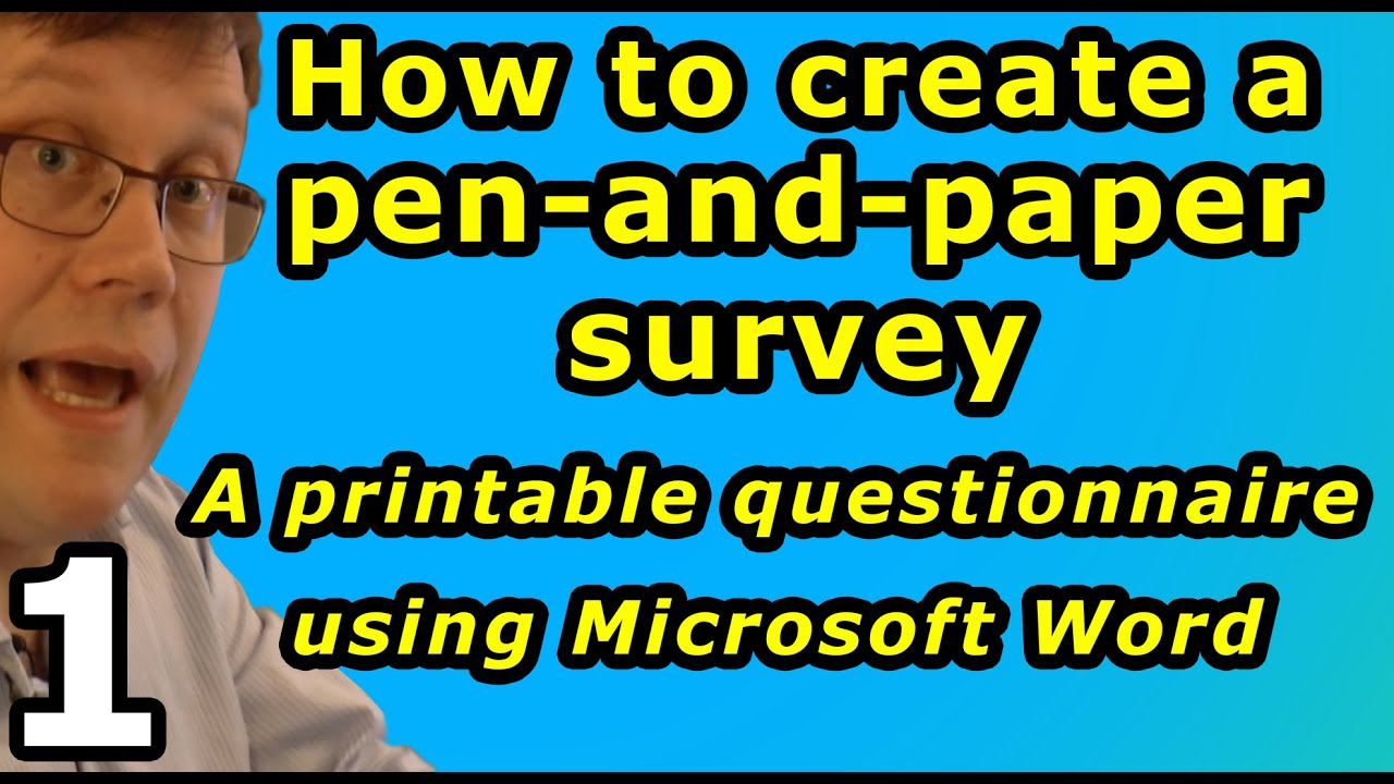 how to create a pen and paper survey in word youtube