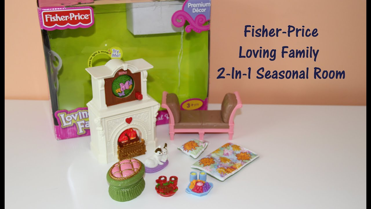 Fisher price doll house furniture - Fisher Price Loving Family 2 In 1 Seasonal Room Doll Furniture Youtube