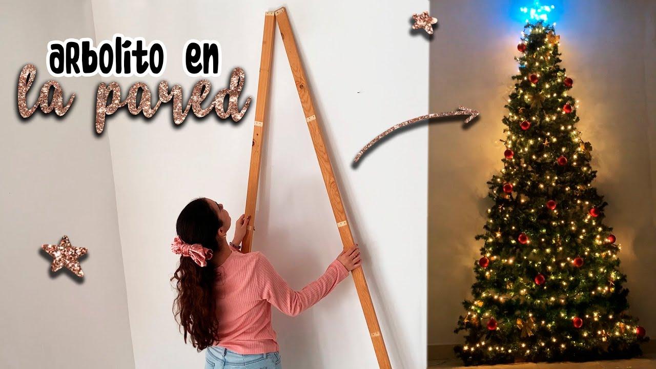 Arbol De Navidad En La Pared Sin Clavos Christmas Tree Decorations Adornos Navideños Alí Youtube