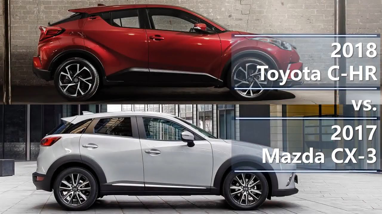 2018 toyota c hr vs 2017 mazda cx 3 technical comparison. Black Bedroom Furniture Sets. Home Design Ideas