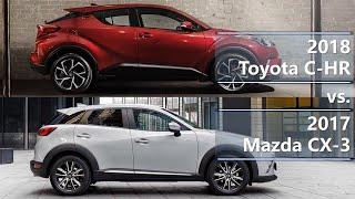 2018 Toyota C-HR vs 2017 Mazda CX-3 (technical comparison)