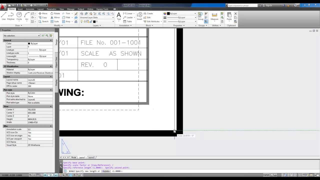 Autocad Title Block Insert And Scale To Fit Layout Youtube