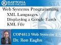 Web Programming - Javascript - Display Google Earth KML File in a Web page