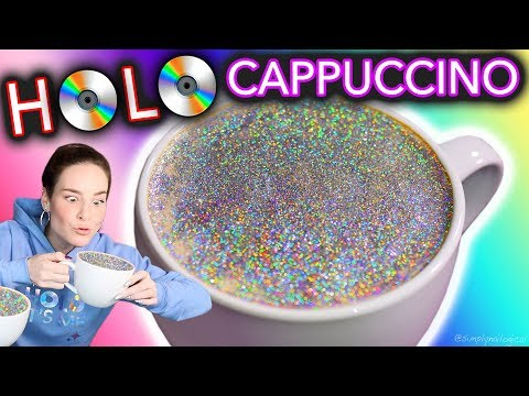 "HOLO CAPPUCCINO | DIY ""Diamond Cappuccino"" test (maybe don't drink this?)"