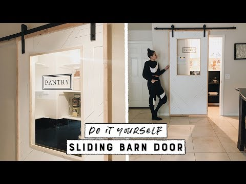 DIY Sliding Barn Door With Window!