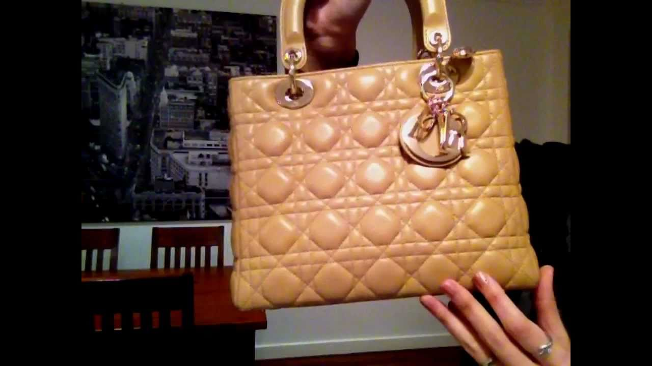b6624ae500d3 Review  Lady Dior Purse (medium   large) - YouTube