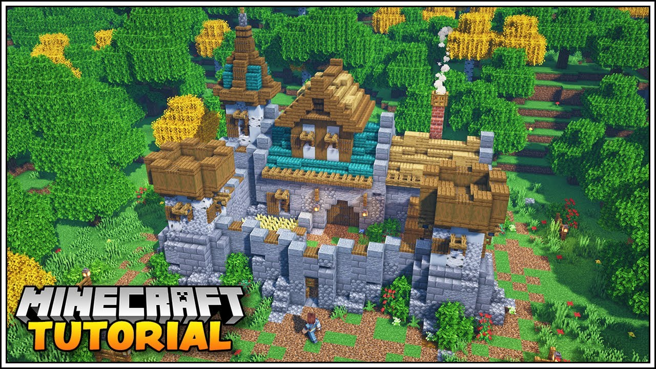 Minecraft 1.16 Small Castle Tutorial [How to Build]