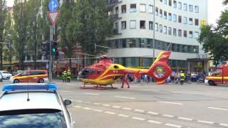 Amazing Helicopter take off in Munich (Goetheplatz)
