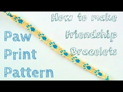 How To Make Friendship Bracelets Paw Prints Youtube