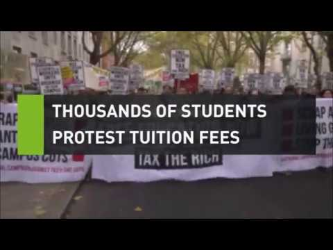 Thousands of students march to protest tuition fees