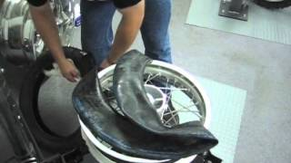 BMW F650 Tire Change