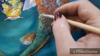 """Живопись маслом """"Рыбки в пруду"""" Советую посмотреть.Потом будут ещё видео о творчестве."""
