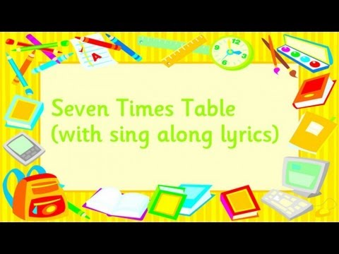 Seven times table youtube for 12 times table song youtube