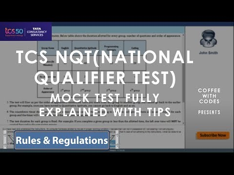 TCS NQT MOCK TEST EXPLAINED | EVERYTHING YOU NEED TO KNOW BEFORE SITTING FOR TCS NQT