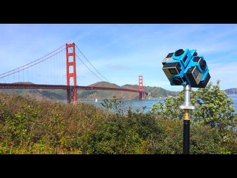 Mit der 360-Grad-Kamera über die Golden Gate Bridge