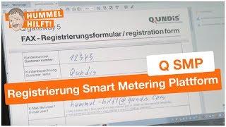 So geht die Registrierung für die QUNDIS Smart Metering Plattform