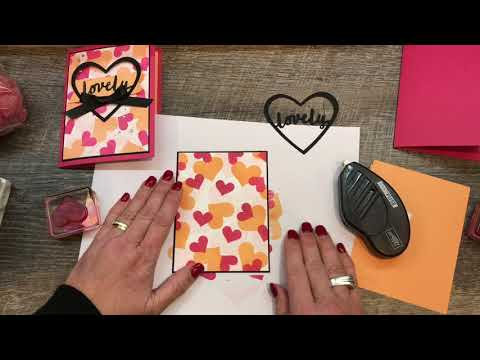 How To Make A Happy Heart Card With A Die Cut Heart Frame