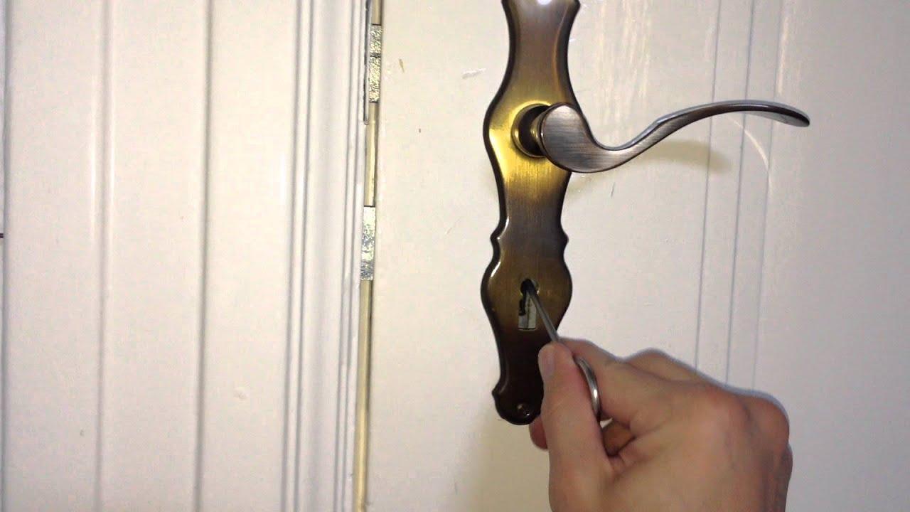 Schön Tür öffnen Mit Dietrich   YouTube