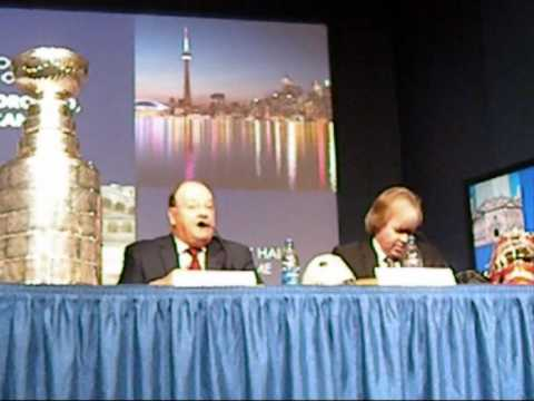 Peter Stastny and Scotty Bowman Press Conference