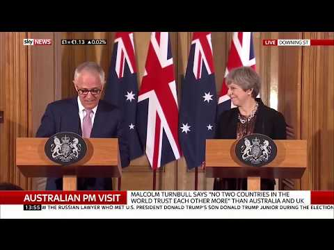 """Australian PM: """"We look forward to concluding free trade agreement with Britain"""""""