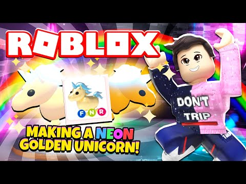 Making A NEON GOLDEN UNICORN In Adopt Me! NEW Adopt Me Golden Unicorn Update (Roblox)