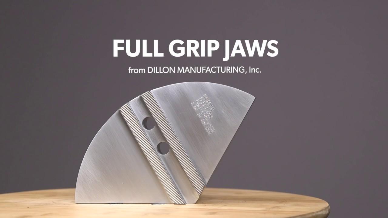 狄龙制造的派颚持有精致的工件
