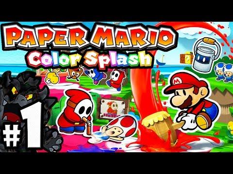 Paper Mario Color Splash PART 1 - Wii U Gameplay Walkthrough - Port Prisma: Intro & Paint Hammer