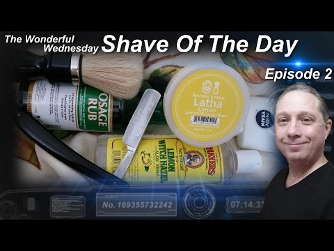 Magnetic Silver Straight Razor Shave, Shave Of The Day, B&M LathaLimon Wonderful Wednesday #SOTD Ep2