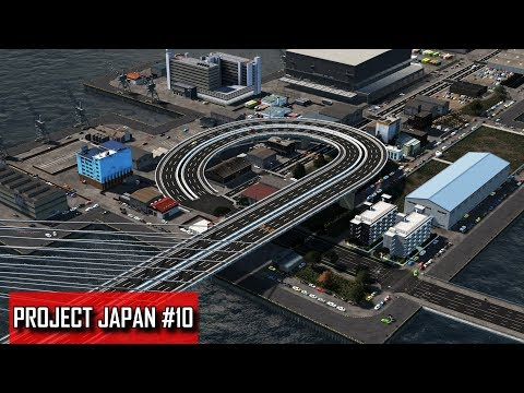 Cities: Skylines - PROJECT JAPAN #10 - Airandoshiti Gate Bridge & Industrial legacy