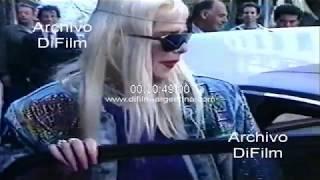 La Cicciolina - la estrella porno termina su visita en Buenos Aires 1990