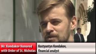 Konstantin Kondakov honored with Order of St. Nicholas the Wonderworker