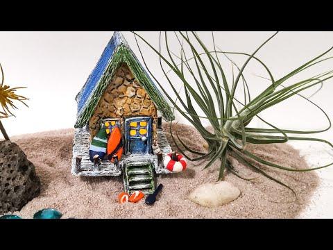Easy Miniature Fairy Garden Beach House No.10 DIY Idea