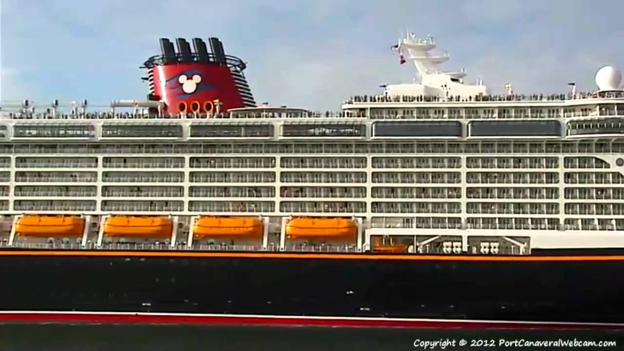 DISNEY FANTASY First Departure From Port Canaveral - Cruise ship web cameras
