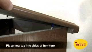 How To Replace A South Shore Furniture Top.