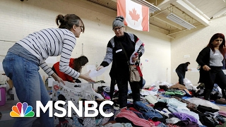 Surge Of Refugees Crossing Canadian Border | Andrea Mitchell | MSNBC