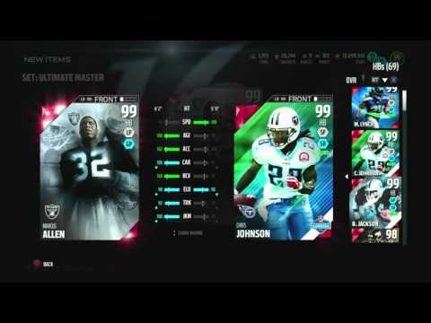 YES! ULTIMATE MASTER! WE GOT 99 MARCUS ALLEN!!! ::-XBOX ONE Madden 16 Ultimate Team