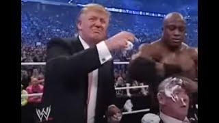 Gambar cover Donald Trump bodyslams, beats and shaves Vince McMahon at Wrestlemania XXIII