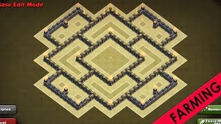 Clash of Clans   TH7 Farming Base   3 Air Defenses   Hybrid Base Layout [New Loot Cart Update 2016]