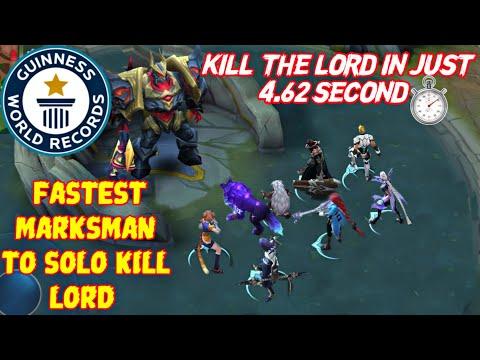 FASTEST MARKSMAN TO SOLO KILL LORD • MOBILE LEGENDS MARKSMAN VS LORD PART 2