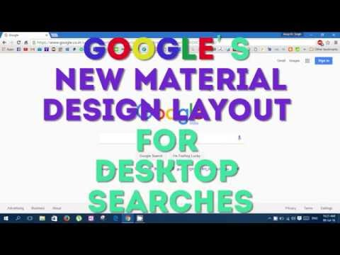 Google's new Material Design layout for Desktop Searches