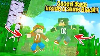 Minecraft Secret Base - HOW TO MAKE A SUPER SECRET SLIME BLOCK BASE!!!