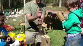 Woodland Bridge Building Workshop - Coed Moel Famau Nature Play Trail, North Wales