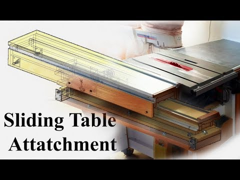 Sliding Table Attatchment Part 4  - Finishing it off