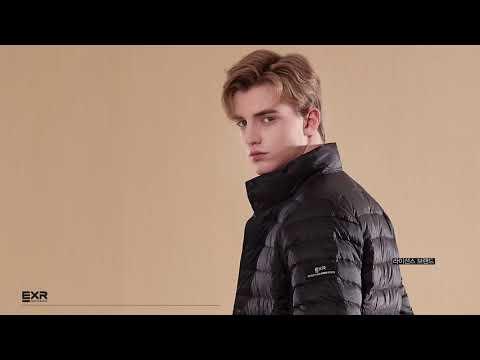 EXR 경량구스다운 남성 상품 디테일 영상