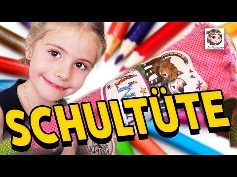 HANNAHS SCHULTÜTE 🎉 Der 1. Schultag ist vorbei und jetzt darf die Zuckertüte geöffnet werden!