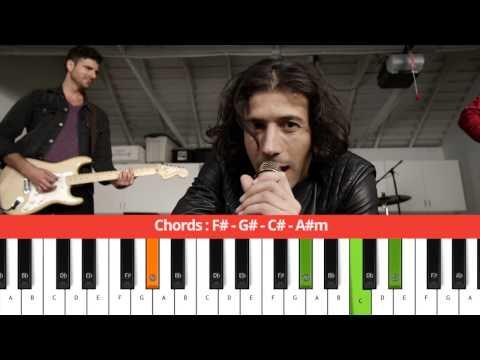 MAGIC! - Rude - Chords (Piano Tutorial)